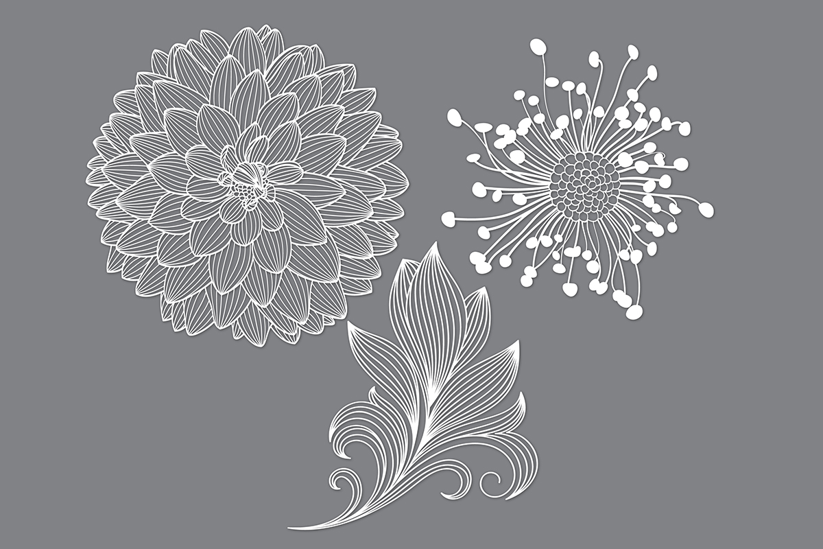Download Free Flower Cut File Svg Graphic By Meshaarts Creative Fabrica for Cricut Explore, Silhouette and other cutting machines.