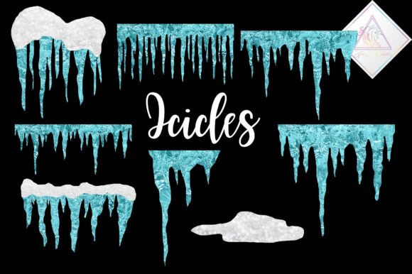Print on Demand: Frosted Icicles Clipart Graphic Illustrations By fantasycliparts