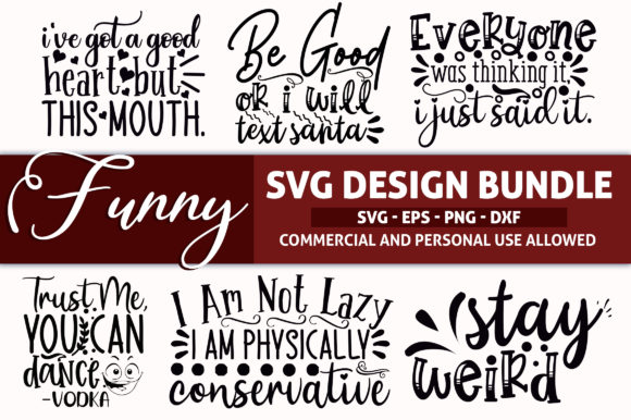 Download Free Funny Design Bundle Graphic By Subornastudio Creative Fabrica for Cricut Explore, Silhouette and other cutting machines.