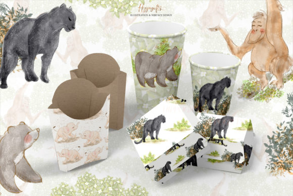 Jungle Animals Woodland Clip Arts Graphic Illustrations By Hippogifts - Image 4