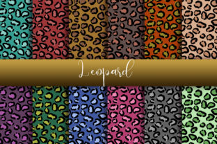 Print on Demand: Leopard Background Digital Papers Graphic Backgrounds By PinkPearly