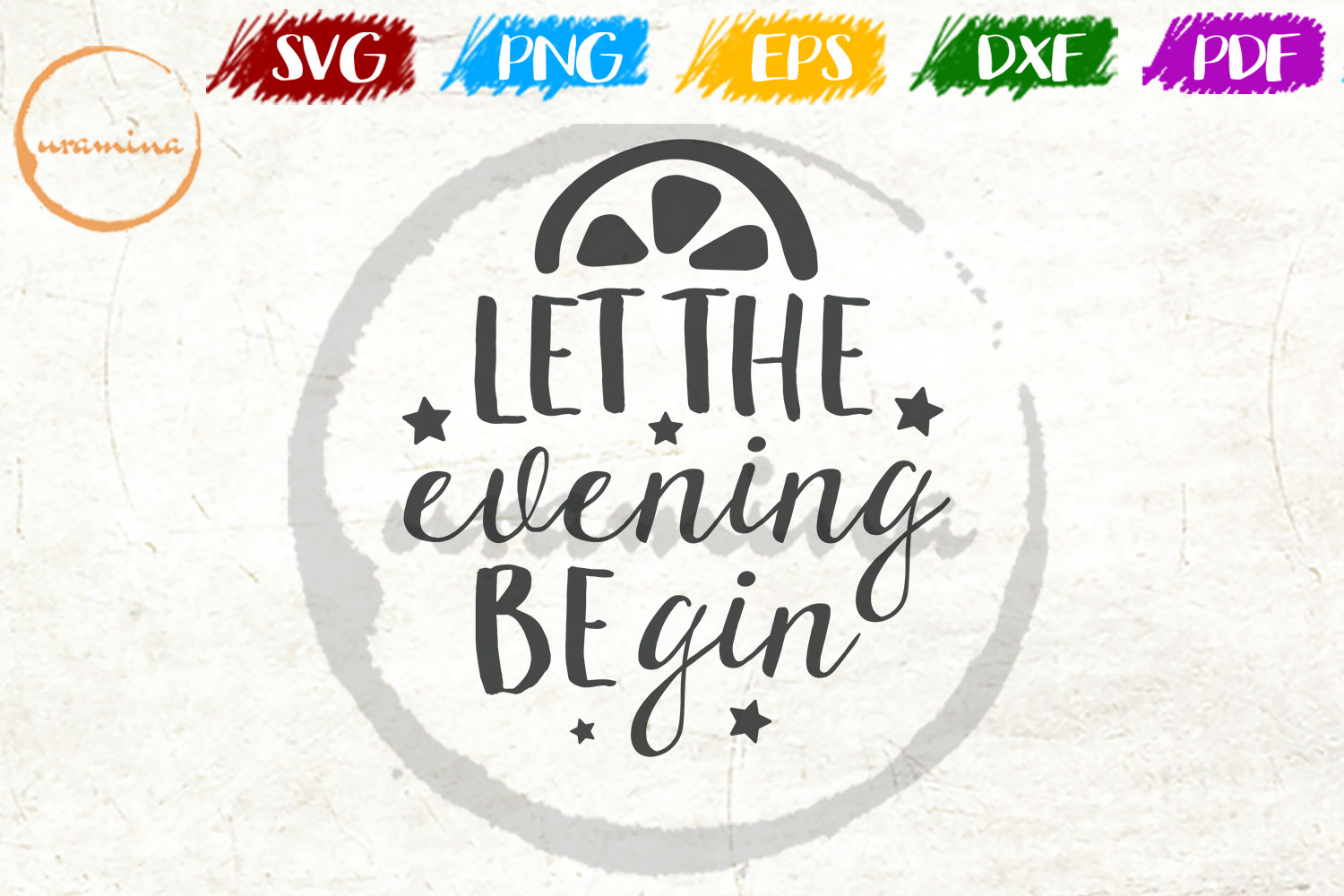 Download Free Let The Evening Begin Graphic By Uramina Creative Fabrica for Cricut Explore, Silhouette and other cutting machines.