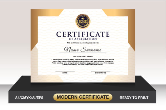 Download Free Luxury Design Certificate Template Graphic By Weemstock for Cricut Explore, Silhouette and other cutting machines.