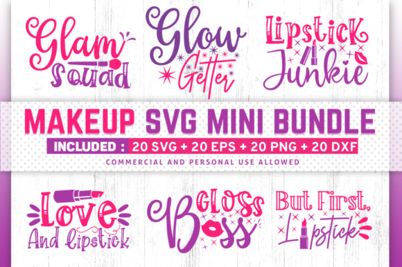 Download Free Makeup Design Bundle Vol 2 Graphic By Subornastudio Creative for Cricut Explore, Silhouette and other cutting machines.