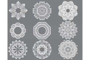Download Free Mandala Flower Svg Cut File Bundle Graphic By Meshaarts for Cricut Explore, Silhouette and other cutting machines.