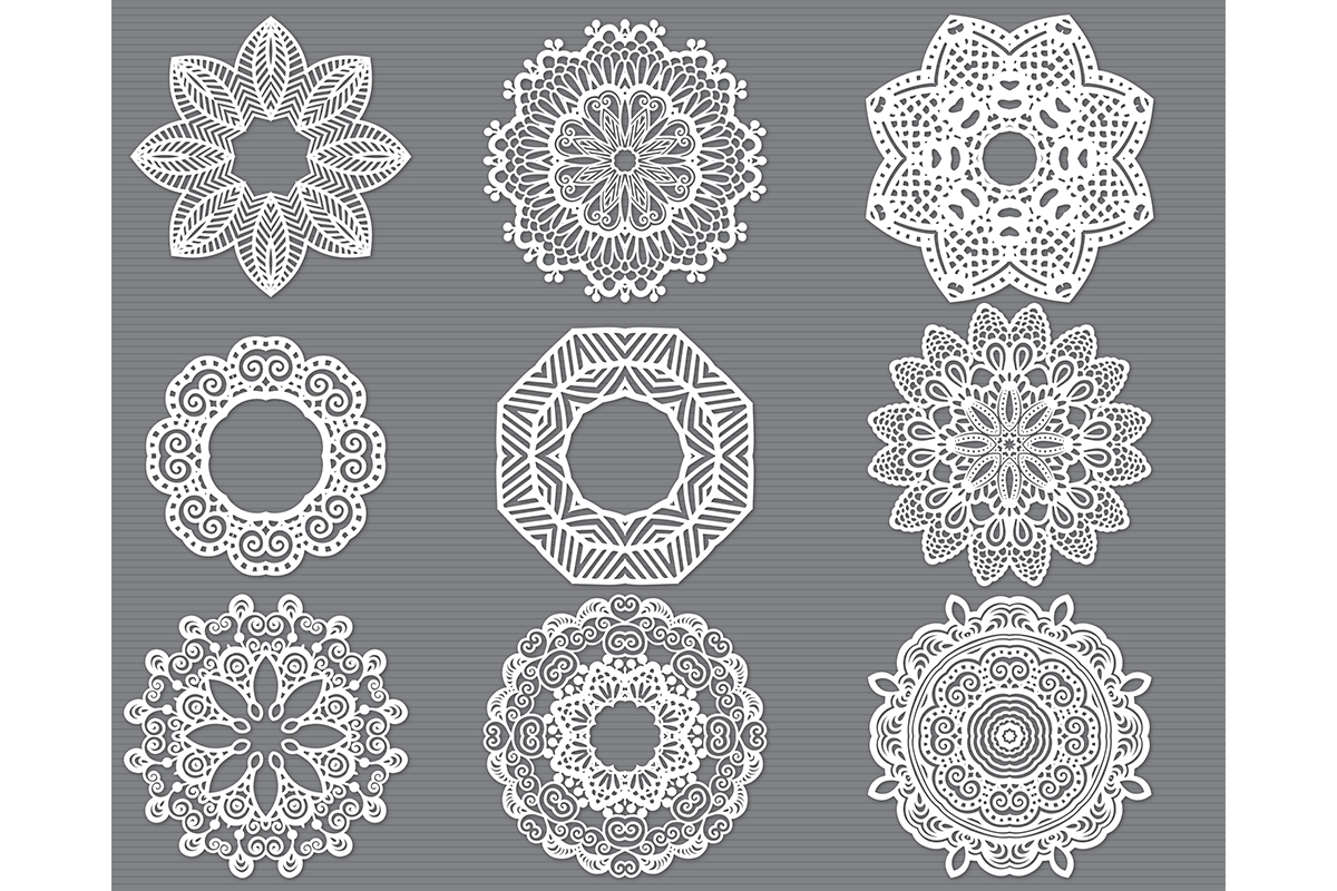 Mandala Flower Svg Cut File Bundle Graphic By Meshaarts
