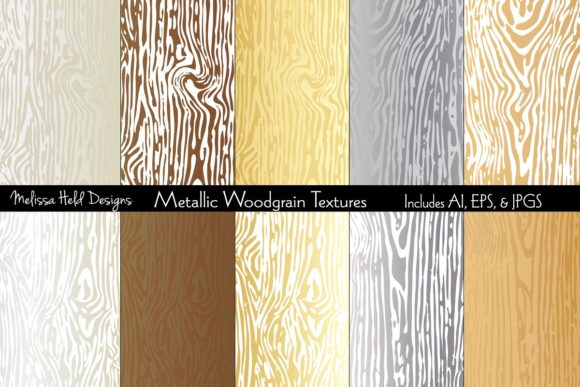 Metallic Woodgrain Textures Graphic Textures By Melissa Held Designs