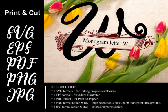 Print on Demand: Monogram Letter W Graphic Crafts By Rusd studio