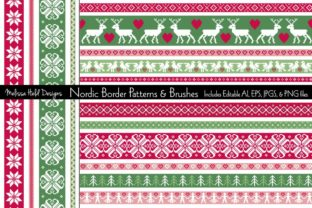 Nordic Border Patterns & Brushes Graphic Patterns By Melissa Held Designs