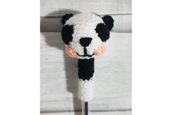 Panda Pen Topper Graphic Crochet Patterns By Tangle Tree Creative