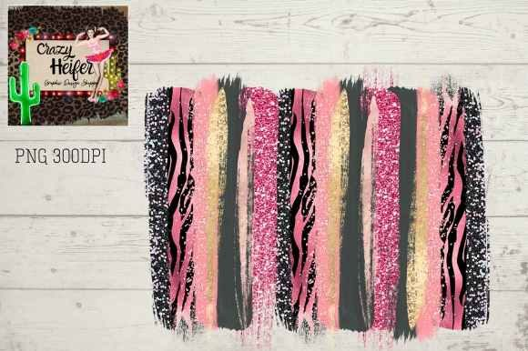 Print on Demand: Pink Zebra Brush Stroke Background Graphic Backgrounds By Crazy Heifer Design Shoppe