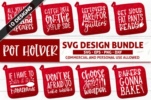 Download Free Pot Holder Svg Design Bundle White Graphic By Subornastudio for Cricut Explore, Silhouette and other cutting machines.