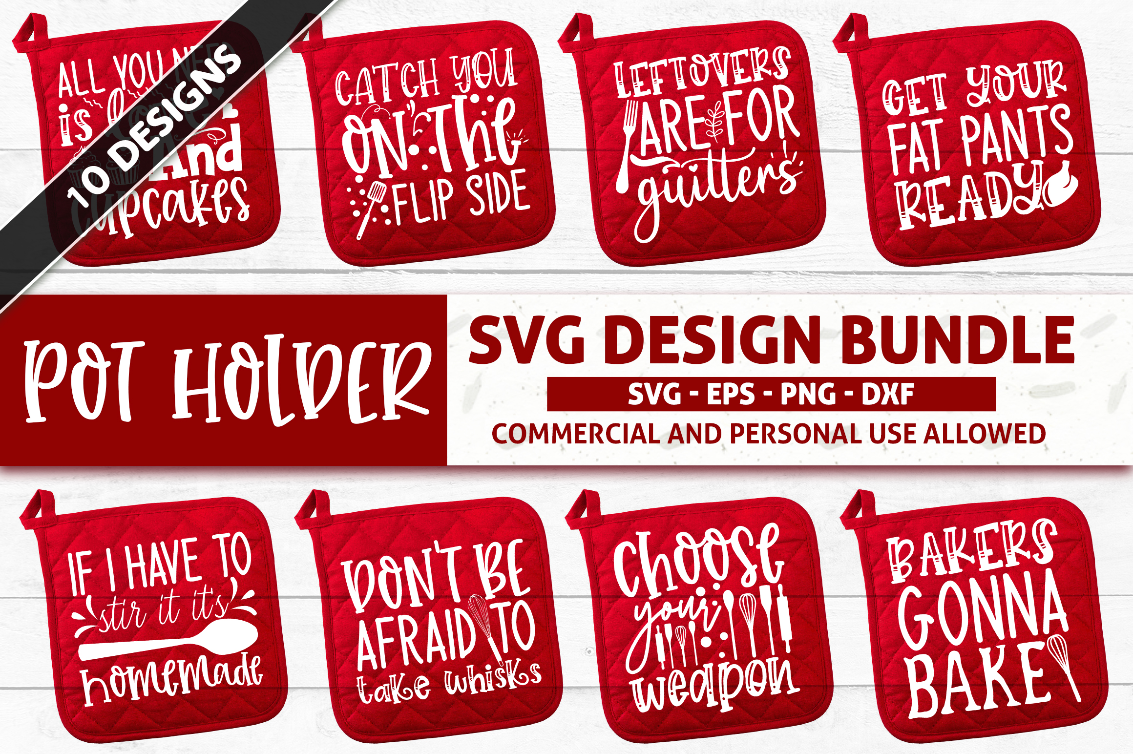 Download Free Pot Holder Design Bundle Graphic By Subornastudio Creative Fabrica for Cricut Explore, Silhouette and other cutting machines.