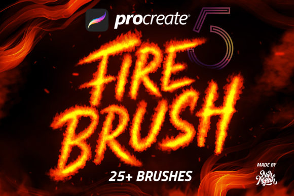 Procreate Fire Brush Graphic Brushes By Nurmiftah