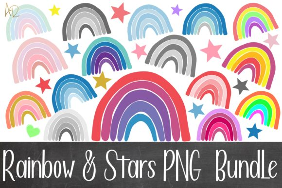 Print on Demand: Rainbow and Stars Bundle Graphic Illustrations By Anayah's Room