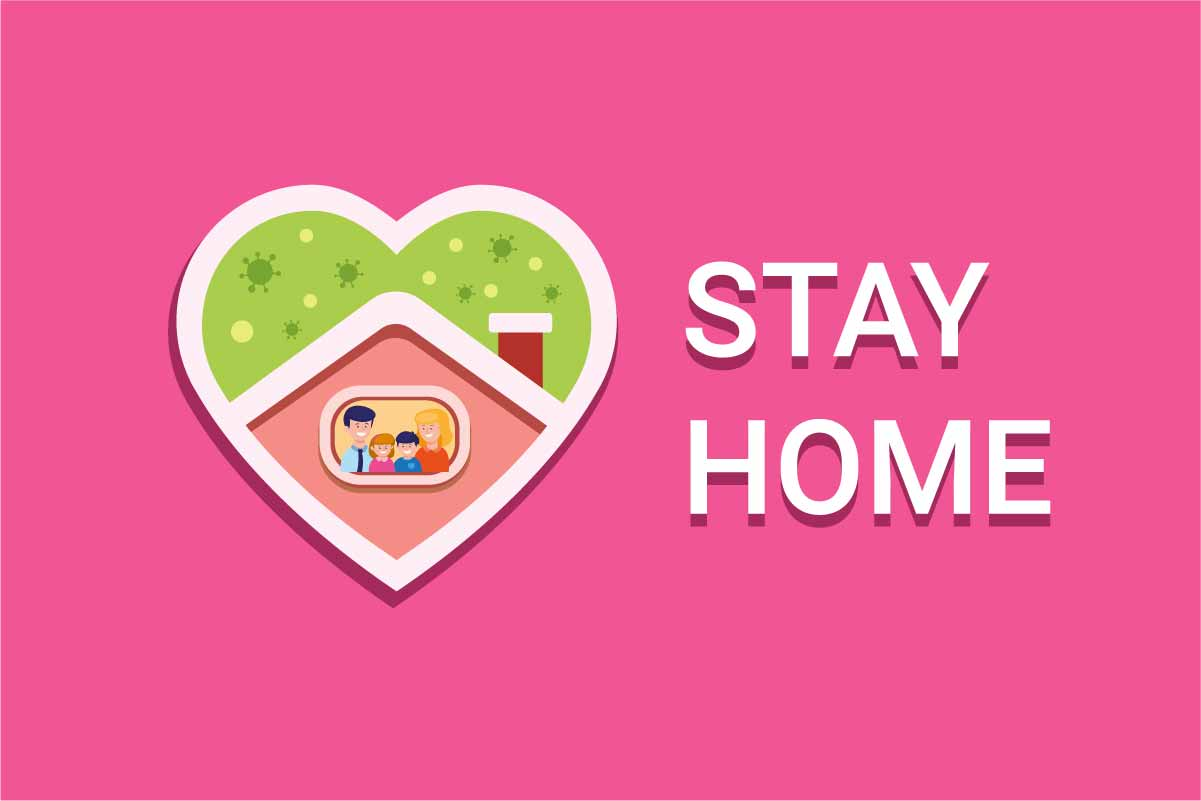 Download Free Stay Home Self Quarantine Logo Graphic By Aryo Hadi Creative for Cricut Explore, Silhouette and other cutting machines.