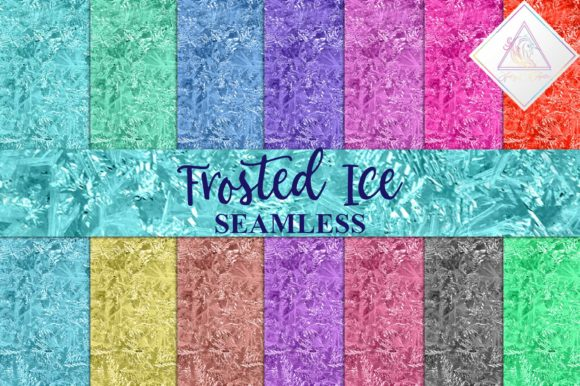 Print on Demand: Seamless Frosted Ice Digital Paper Graphic Textures By fantasycliparts
