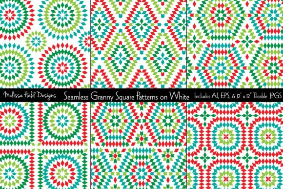Seamless Granny Square Patterns Graphic Patterns By Melissa Held Designs