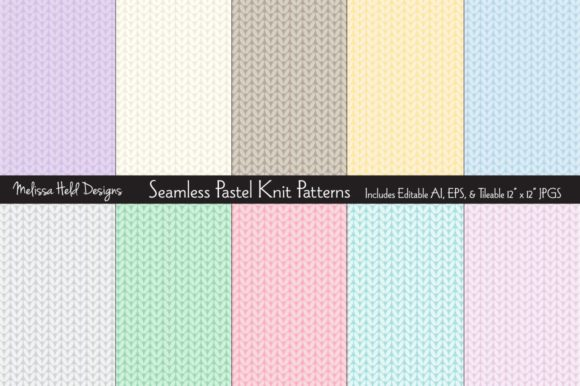 Seamless Pastel Knit Patterns Graphic Textures By Melissa Held Designs