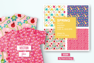 Print on Demand: Spring Patterned Papers   Graphic Patterns By print.cut.hang