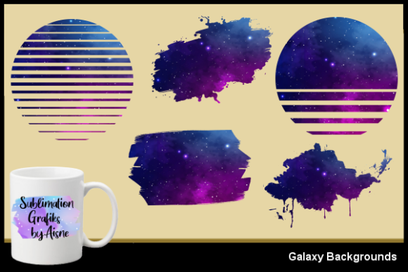 Print on Demand: Sublimation Galaxy Backgrounds Graphic Backgrounds By Aisne - Image 1