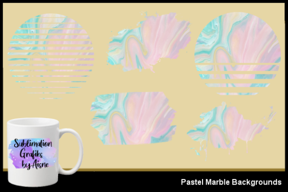 Print on Demand: Sublimation Pastel Marble Backgrounds Graphic Backgrounds By Aisne