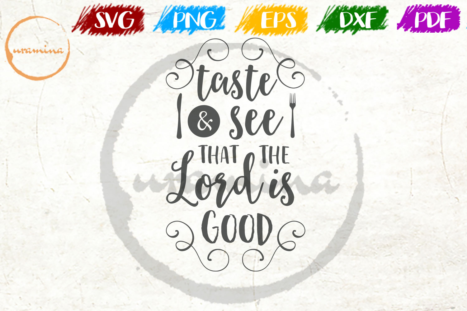 Taste See That The Lord Is Good Graphic By Uramina Creative