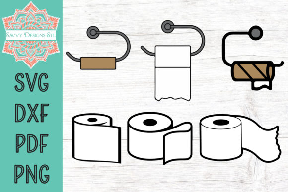 Print on Demand: Toilet Paper Graphic Bundle Grafik Plotterdateien von savvydesignsstl