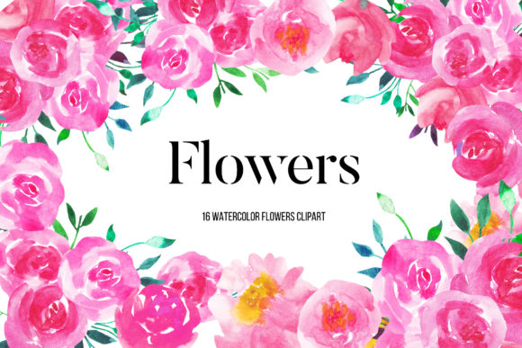 Download Free Watercolor Pink Peonies Flowers Clipart Graphic By Bonadesigns for Cricut Explore, Silhouette and other cutting machines.