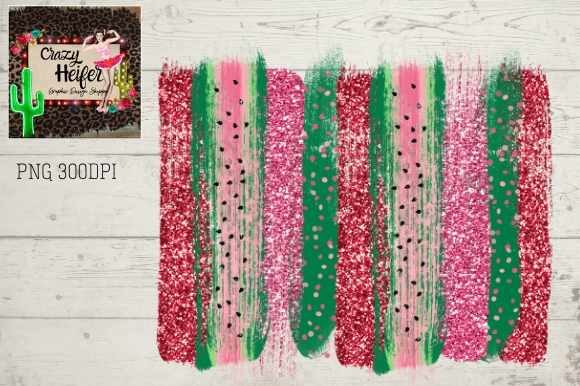 Print on Demand: Watermelon Brush Stroke Background Graphic Backgrounds By Crazy Heifer Design Shoppe