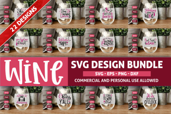 Print on Demand: Wine Design Bundle Graphic Crafts By SubornaStudio