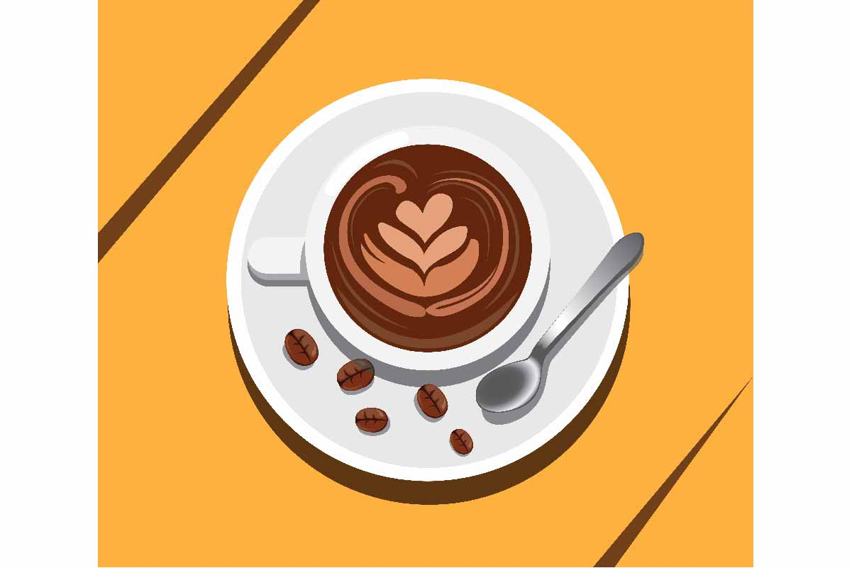 Download Free A Cup Of Coffee Latte Art Vector Graphic By Aryo Hadi Creative for Cricut Explore, Silhouette and other cutting machines.