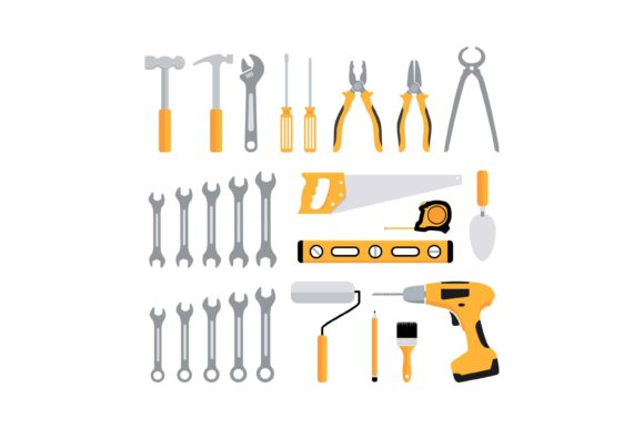 Print on Demand: Carpentry Tools Icon Graphic Icons By sabavector