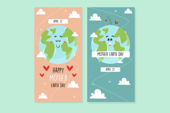 Download Free Mother Earth Day Hand Drawn Design Graphic By Aprlmp276 for Cricut Explore, Silhouette and other cutting machines.