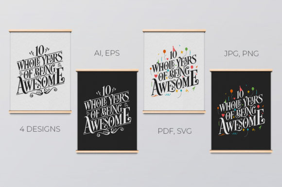 Download Free 32 Year Birthday Anniversary Typo Set Graphic By Creator for Cricut Explore, Silhouette and other cutting machines.