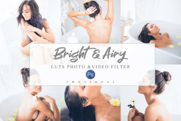 Print on Demand: 12 Airy - Bright Photoshop Actions, ACR Graphic Actions & Presets By 3Motional