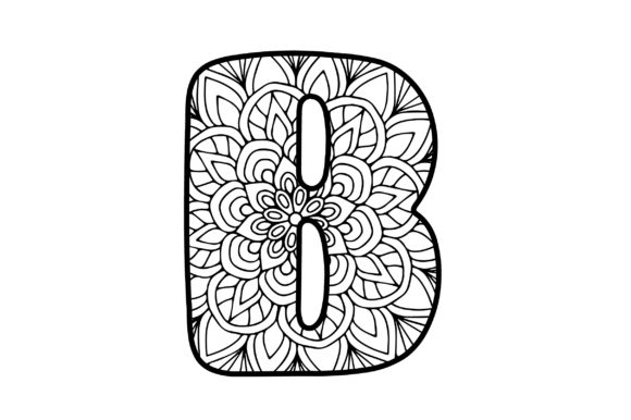 Mandala Alphabet - B Designs & Drawings Craft Cut File By Creative Fabrica Crafts