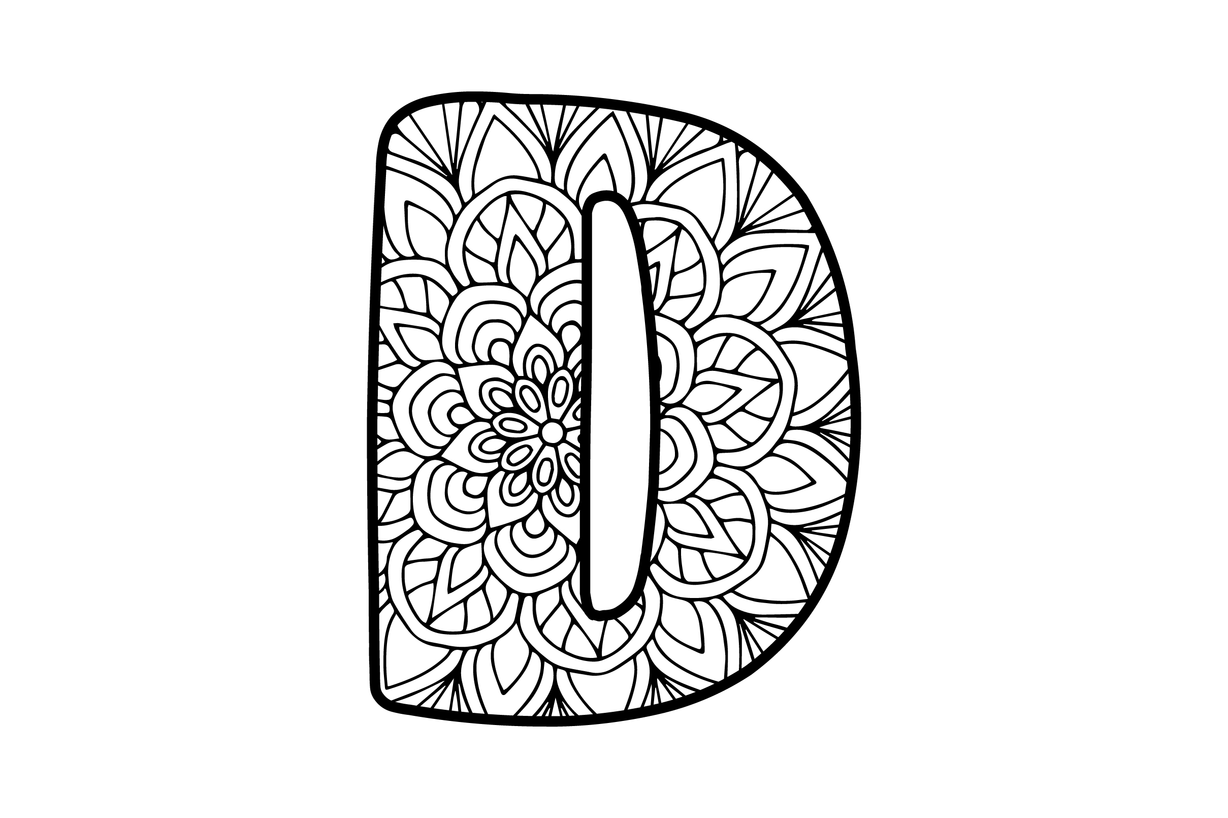 Download Free Mandala Alphabet D Svg Cut File By Creative Fabrica Crafts for Cricut Explore, Silhouette and other cutting machines.