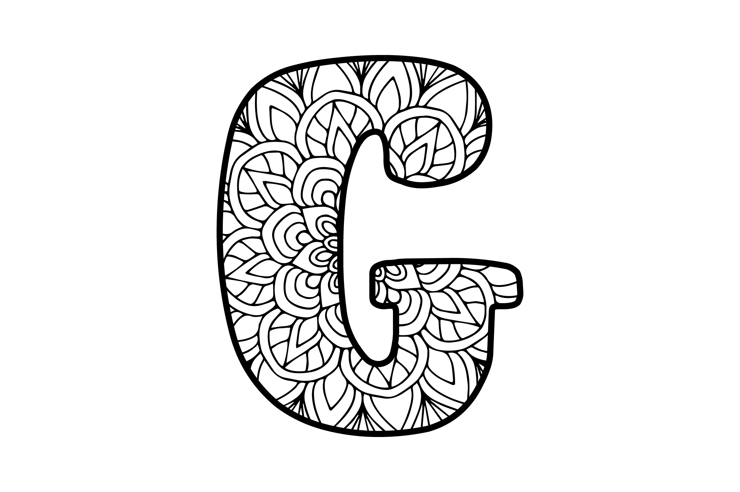Download Free Mandala Alphabet G Svg Cut File By Creative Fabrica Crafts for Cricut Explore, Silhouette and other cutting machines.