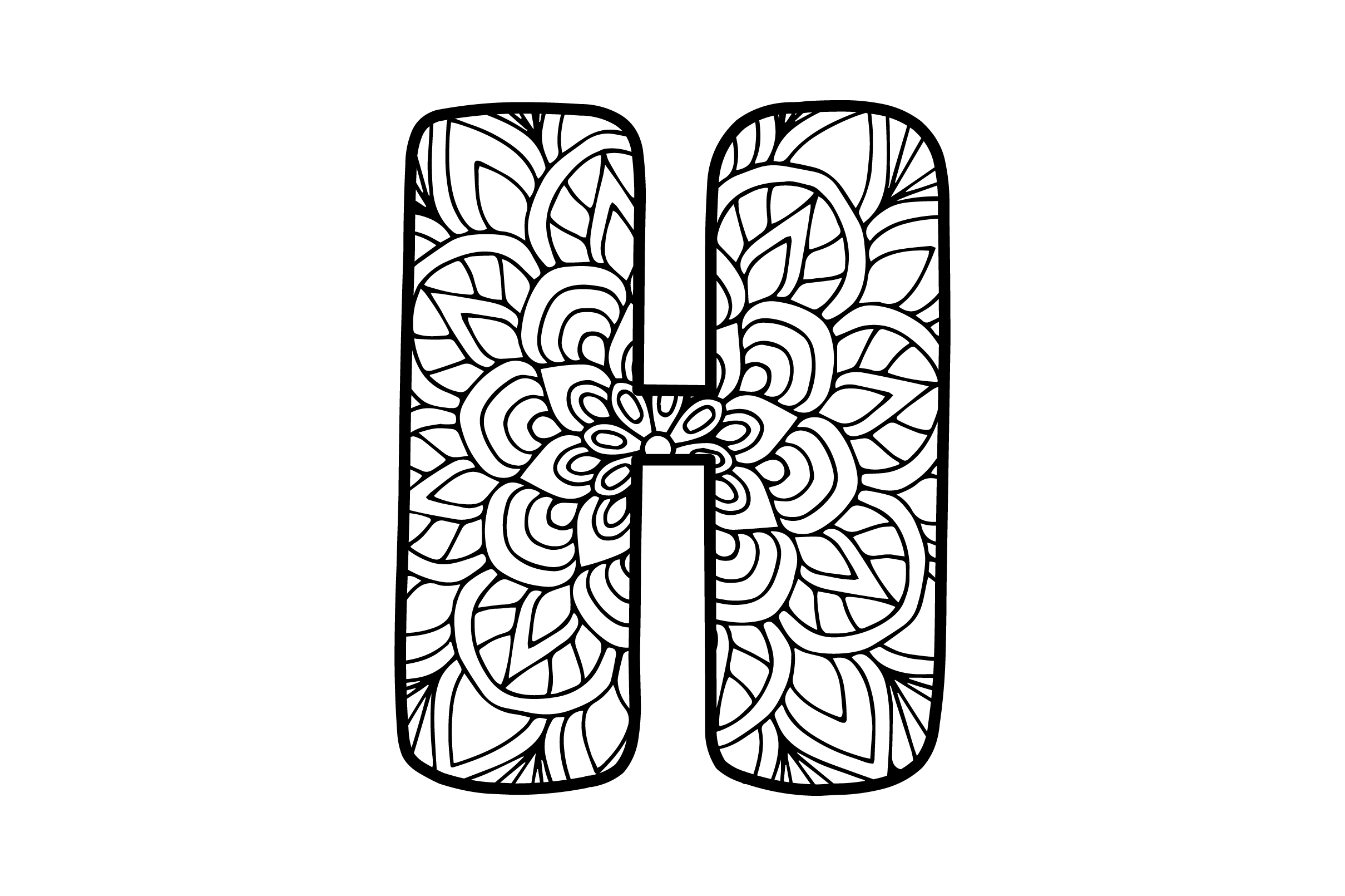 Download Free Mandala Alphabet H Svg Cut File By Creative Fabrica Crafts for Cricut Explore, Silhouette and other cutting machines.