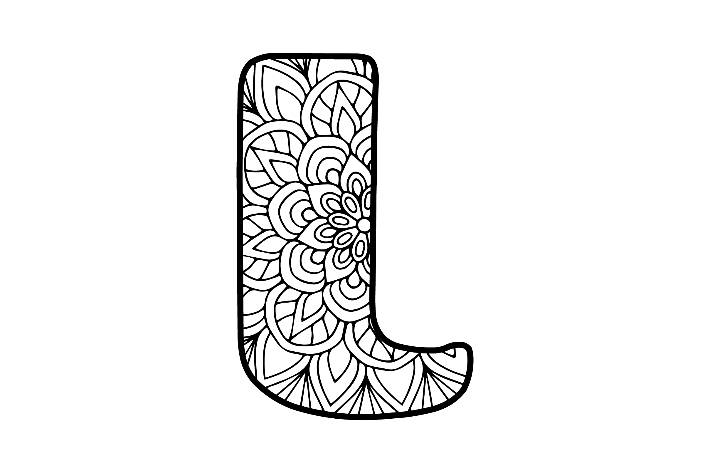 Download Free Mandala Alphabet L Svg Cut File By Creative Fabrica Crafts for Cricut Explore, Silhouette and other cutting machines.