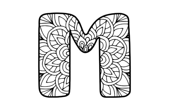 Mandala Alphabet - M Designs & Drawings Craft Cut File By Creative Fabrica Crafts