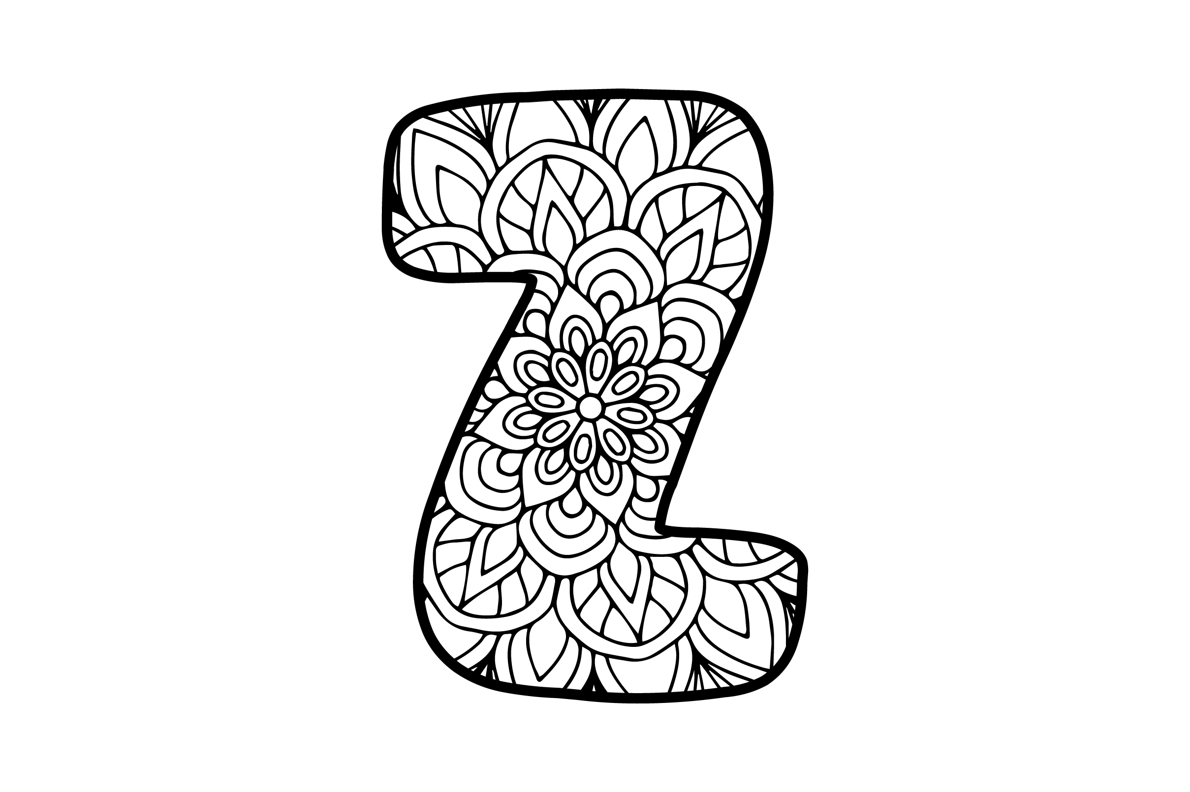 Download Free Mandala Alphabet Z Svg Cut File By Creative Fabrica Crafts for Cricut Explore, Silhouette and other cutting machines.