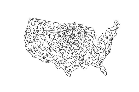 U.S. Outline Mandala Mandalas Craft Cut File By Creative Fabrica Crafts