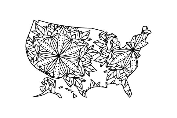 Download Free U S Outline Mandala Svg Cut File By Creative Fabrica Crafts for Cricut Explore, Silhouette and other cutting machines.