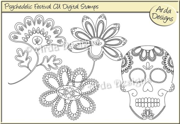 Digital stamps to color