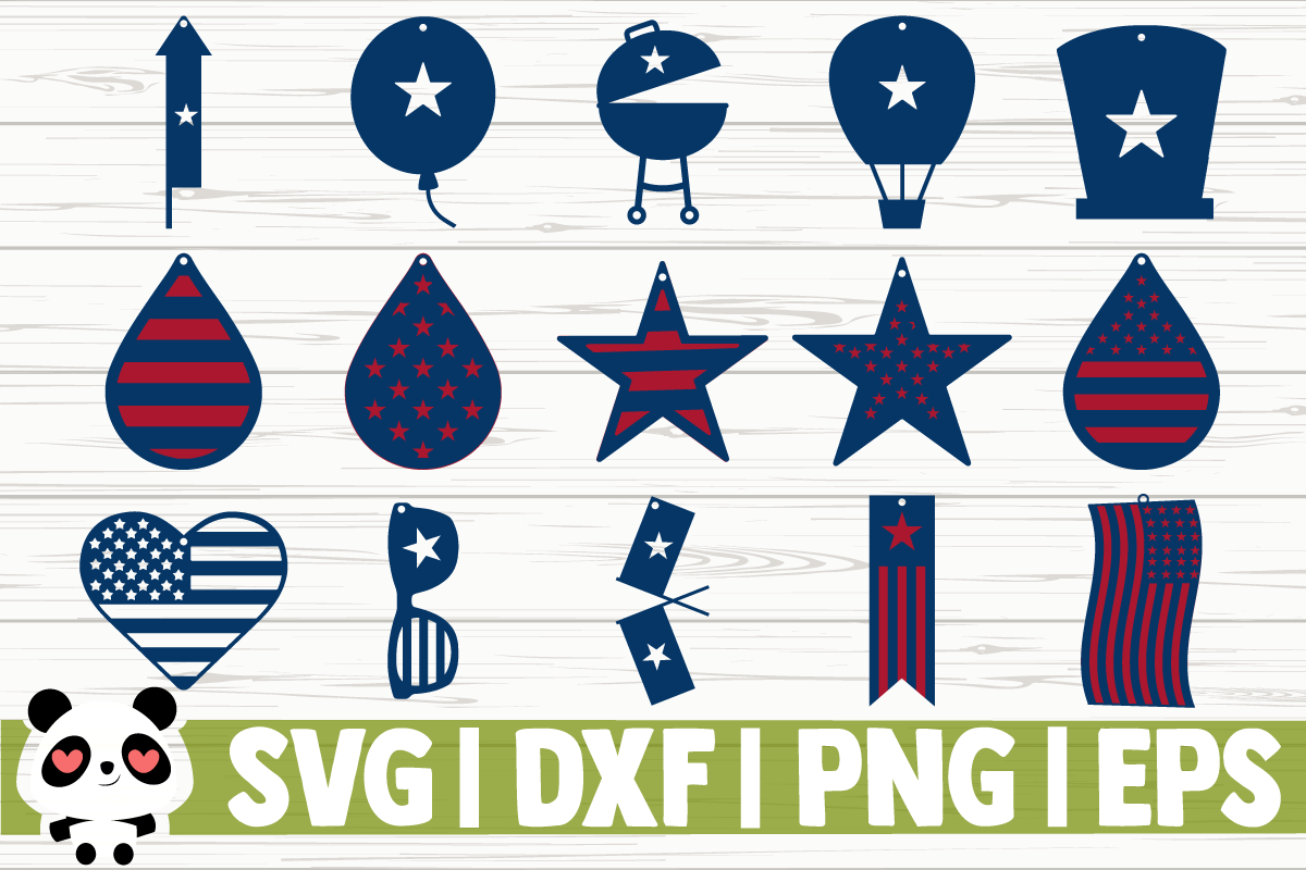 Download Free 4th Of July Earrings Graphic By Creativedesignsllc Creative for Cricut Explore, Silhouette and other cutting machines.