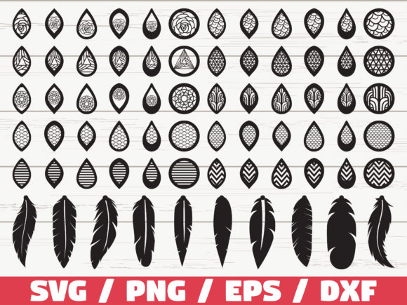 Download Free 70 Earrings Cut File Cricut Graphic By Zecworkshop for Cricut Explore, Silhouette and other cutting machines.