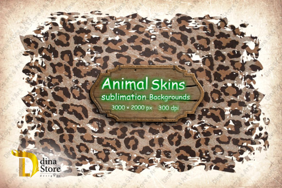 Print on Demand: Animal Skins Sublimation Backgrounds Graphic Backgrounds By dina.store4art - Image 2