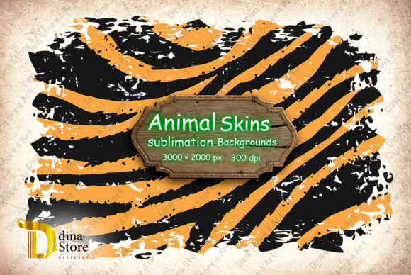 Print on Demand: Animal Skins Sublimation Backgrounds Graphic Backgrounds By dina.store4art - Image 3